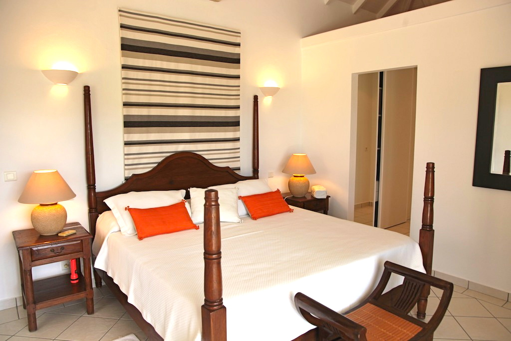 Villa Bonjour - Holiday Villa for Rent with Full Air Conditioning St Barth - Bedroom