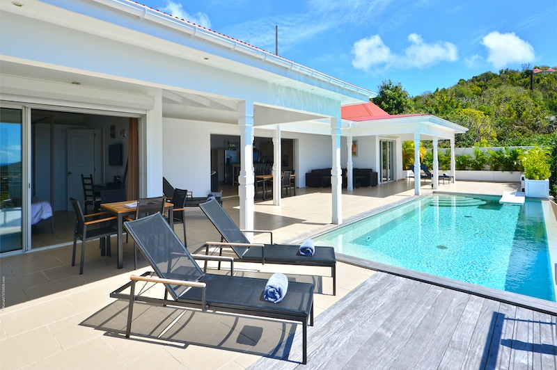 Villa Cactus - Spacious villa rental on the heights of Colombier St Barth with a Large Heated Pool - Outside View