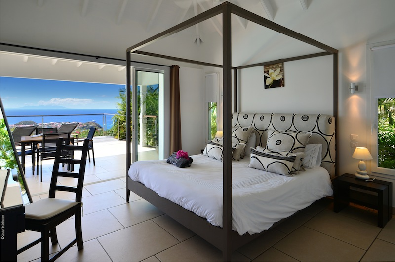 Villa Cactus - Spacious villa rental on the heights of Colombier St Barth with a Large Heated Pool - Bedroom