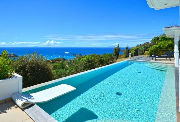 Villa Cactus - Spacious villa rental on the heights of Colombier St Barth with a Large Heated Pool - Ocean View