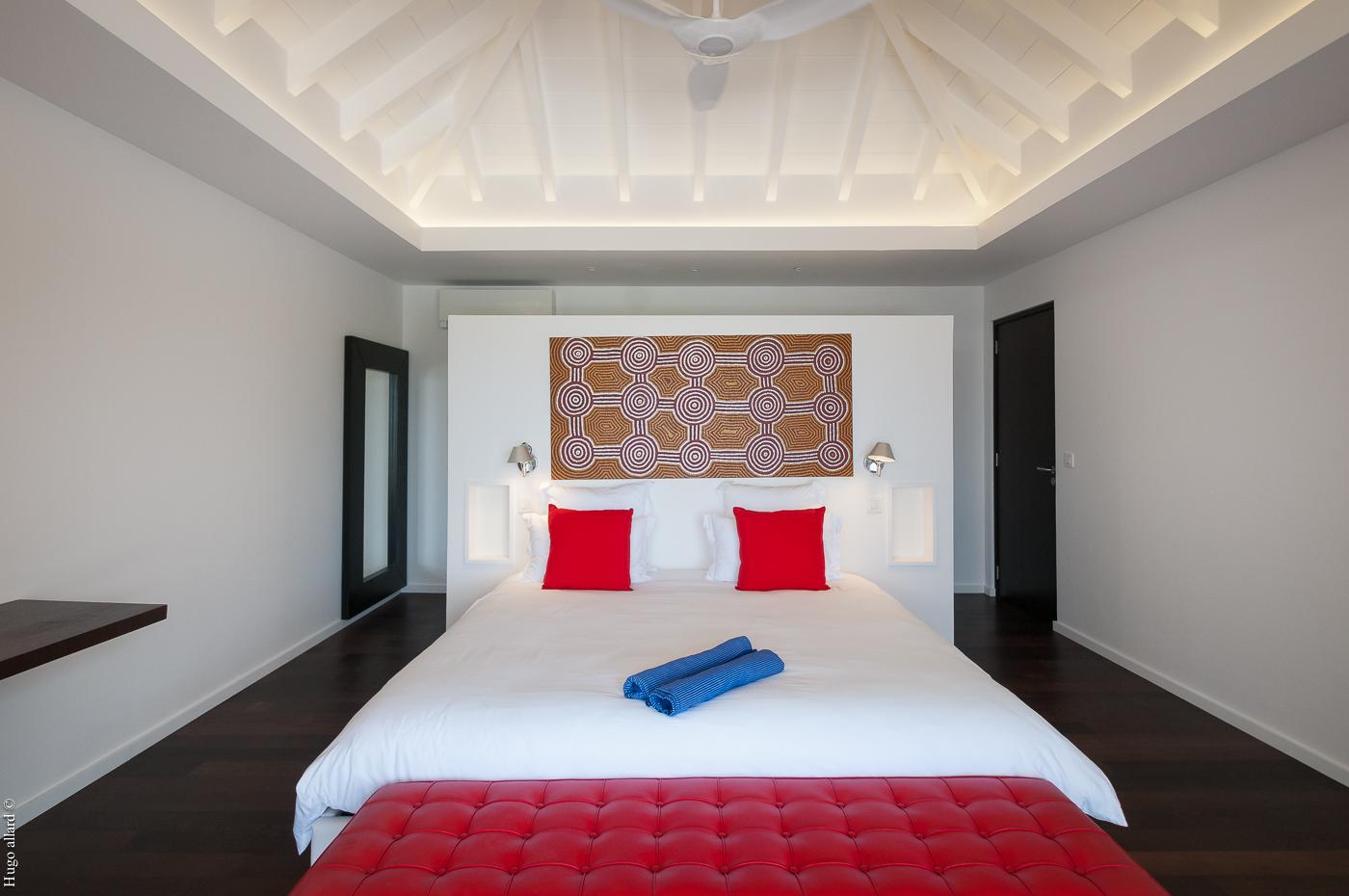 Villa Cairn - Hillside Villa For Rent St Barth Petit Cul de Sac with Spacious Living Areas - Bedroom