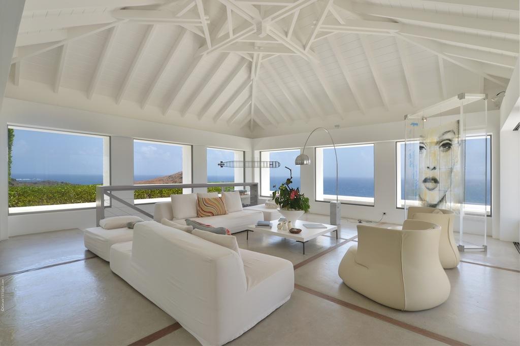 Villa Casa del Mar - Wonderful Villa Rental St Barth with a Tennis Court - Living room