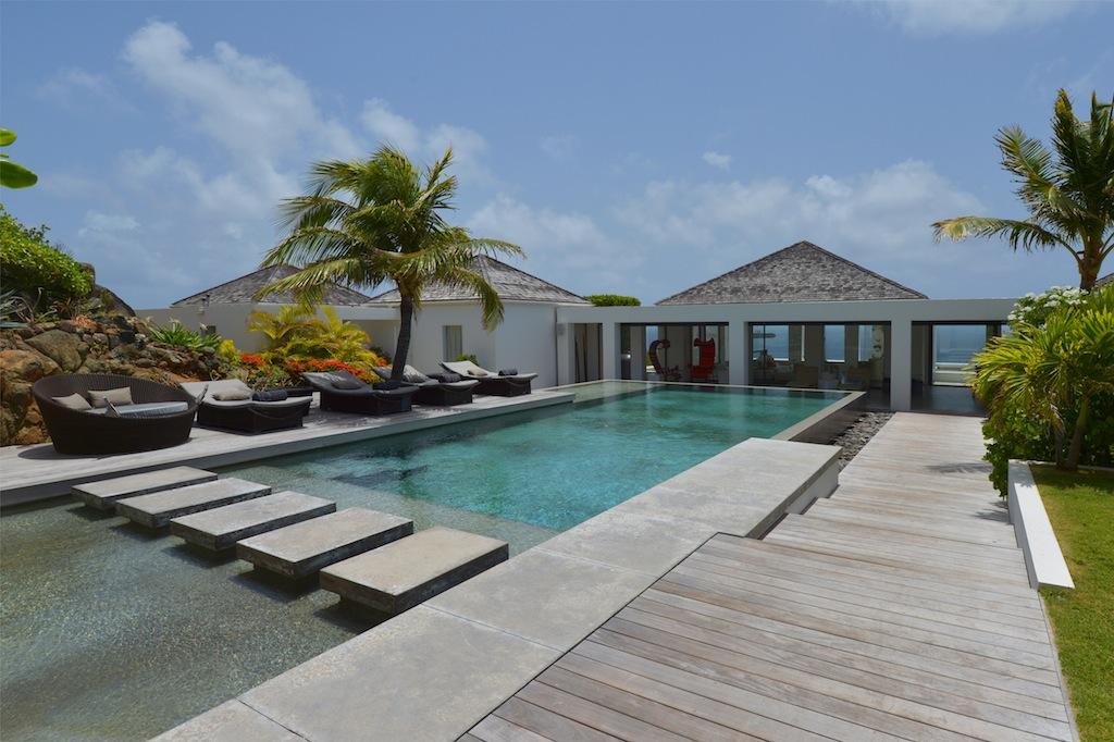 Villa Casa del Mar - Wonderful Villa Rental St Barth with a Tennis Court - Outside view