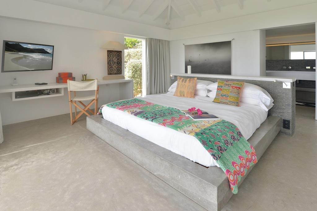 Villa Casa del Mar - Wonderful Villa Rental St Barth with a Tennis Court - Bedroom