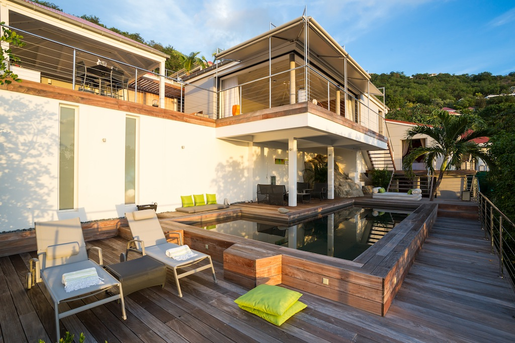 Villa Casaroc - Contemporary Two-Levels Villa for Rent St Barth with Spectacular Sunset Views - Outside view