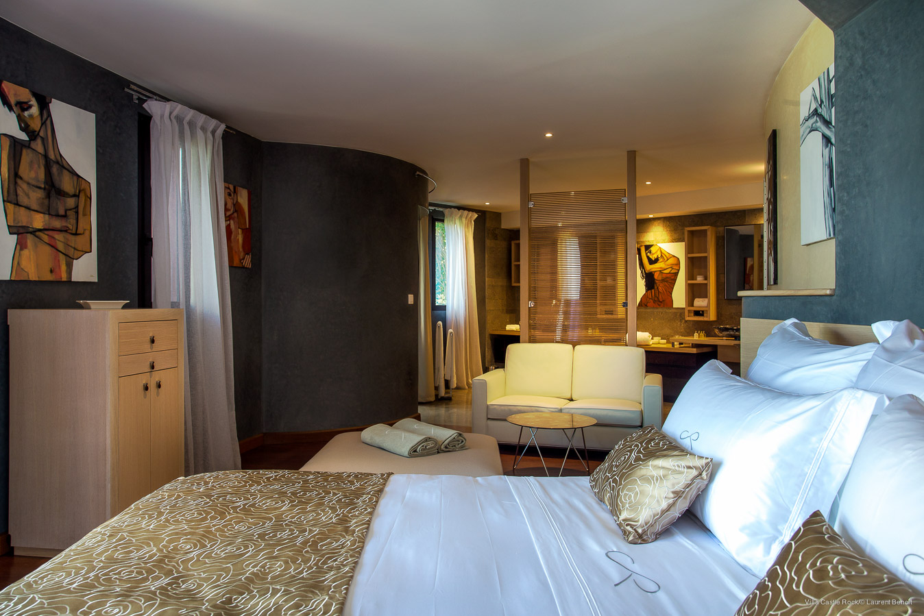 Villa Castle Rock - Magnificent Villa for Rent Situated on the Hillside of Lorient St Barth - Bedroom
