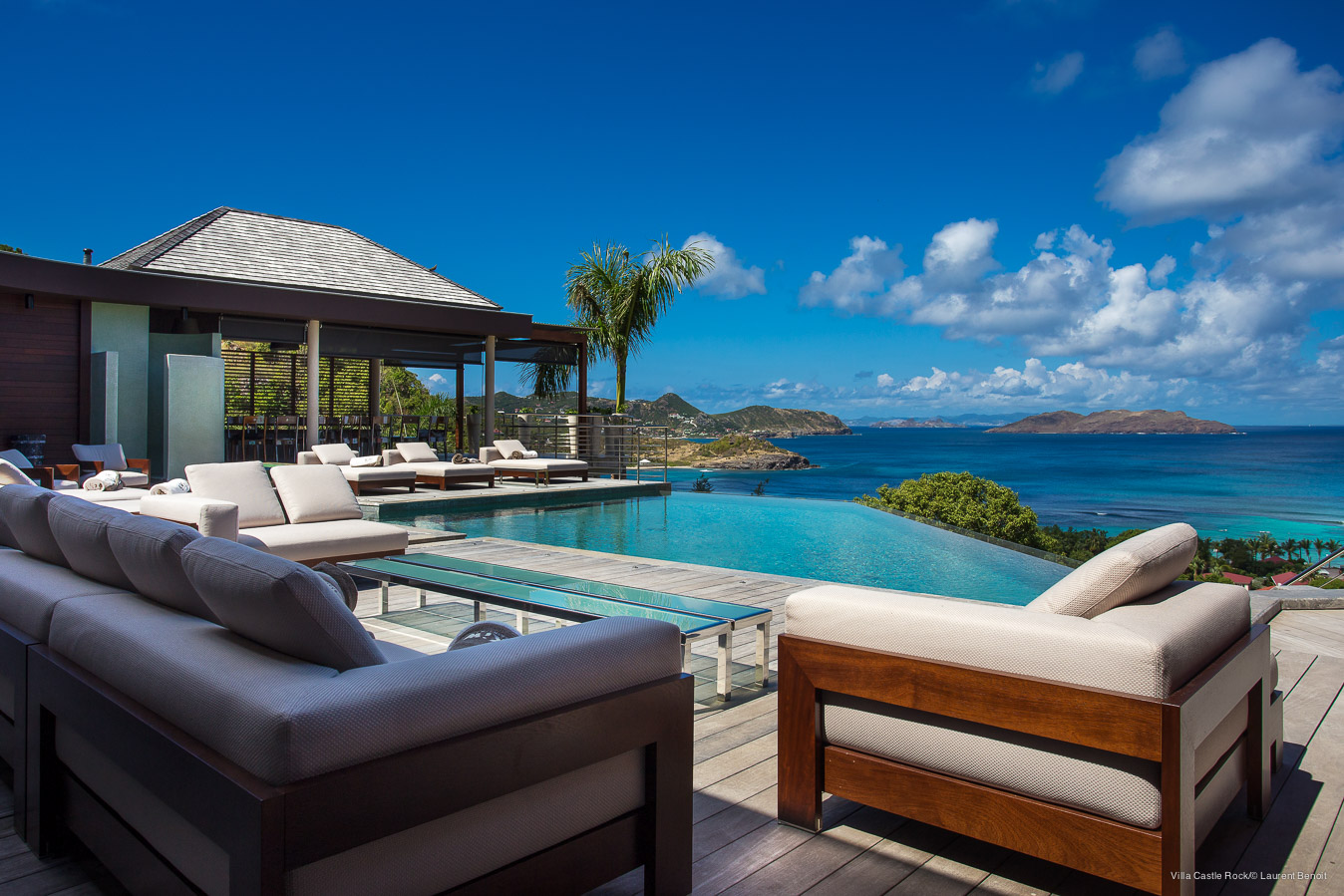 Villa Castle Rock - Magnificent Villa for Rent Situated on the Hillside of Lorient St Barth - Seaview