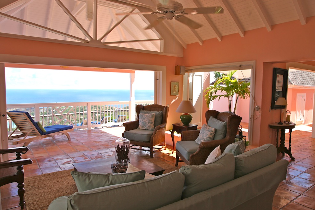 Villa Cheyenne - Isolated Villa for Rent St Barth Located in the Hillside of Dévé - Living room