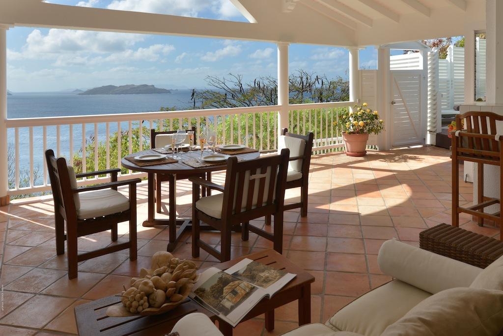 Villa Colibri - 1 Bedroom Villa for Rent St Barth Perfect for a Couple - Dining Area