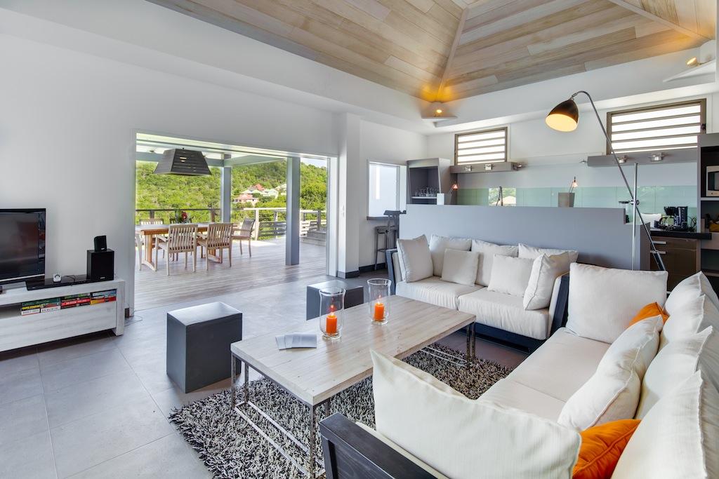 Villa Datcha - Modern and Comfortable Villa Rental St Barth Close to Restaurants - Living Room