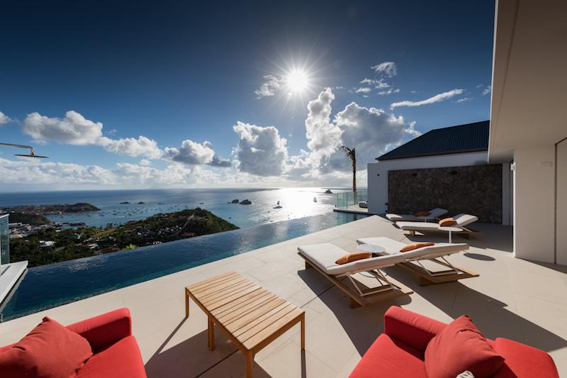 Villa D'zir - 3 Bedroom Villa for Rent St Barth Colombier with Gym - Seaview