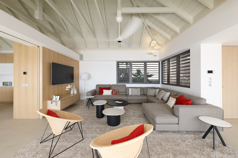 Villa D'zir - 3 Bedroom Villa for Rent St Barth Colombier with Gym - Living room