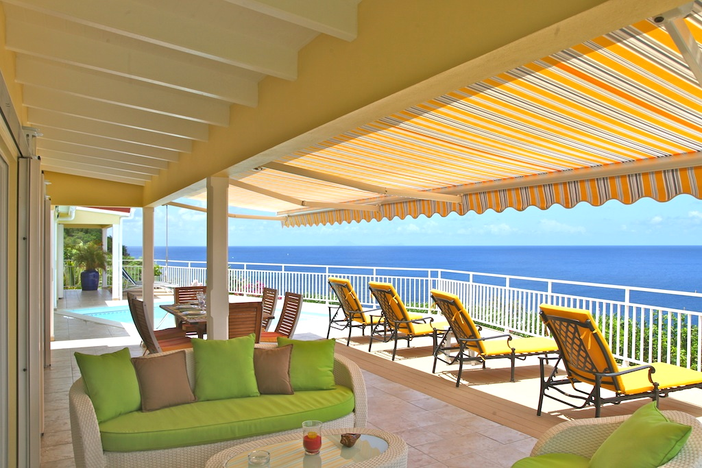 Villa Grand Galet - Oceanfront Villa for Rent St Barth with Pool - Terrace