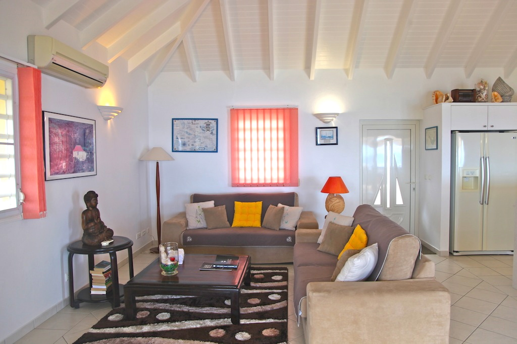 Villa Grand Galet - Oceanfront Villa for Rent St Barth with Pool - Living room