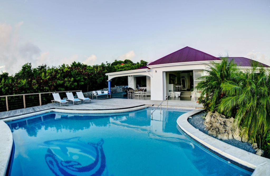Villa Grand Large - Sunset Villa for Rent with BBQ St Barth Gouverneur - Outside view