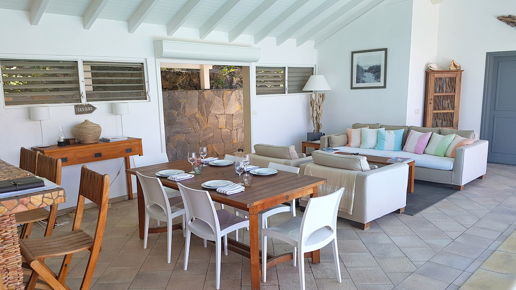 Villa Heloa - Sunset Villa for Rent St Barth with an Amazing View of the Ocean - Main area