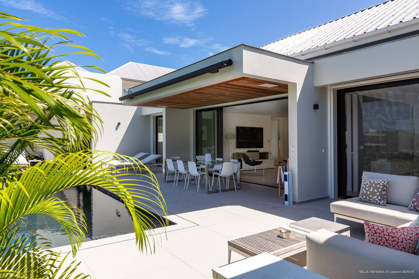 Villa Indyana - Modern and Comfortable Villa Rental St Barth with Air Conditioning and Heated Pool - Outside view