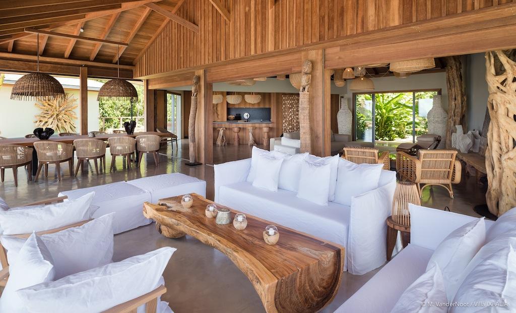 Villa Ixfalia - Privacy Villa for Rent St Barth Morne des Diamands - Living room