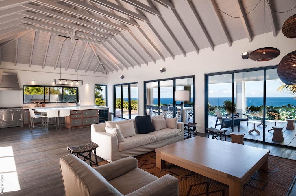 Villa Jocapana - Spacious Sunset Villa for Rent St Barth Lurin - Living room