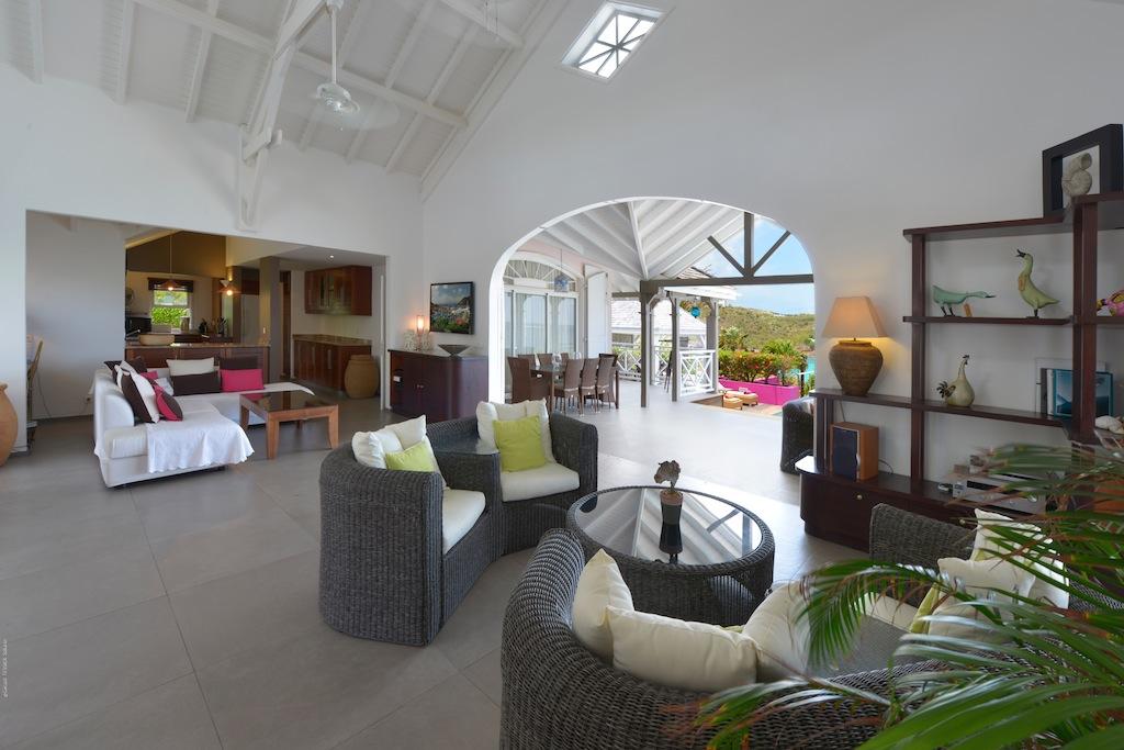 Villa La vie en Rose - Villa for Rent St Barth with Jacuzzi and Gym - Main Area