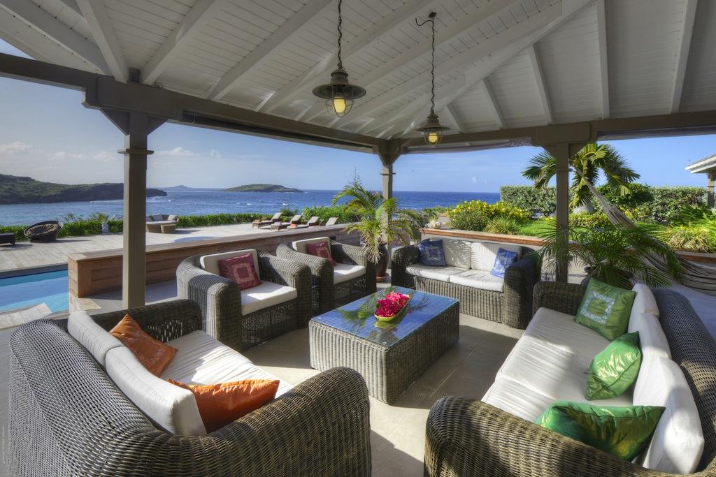 Villa La vie en Rose - Villa for Rent St Barth with Jacuzzi and Gym - Terrace