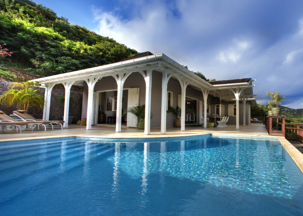 Villa Lagon Jaune - Seaview Villa for Rent St Barth with Pool - Outside view