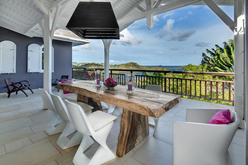 Villa Lagon Jaune - Seaview Villa for Rent St Barth with Pool - Terrace