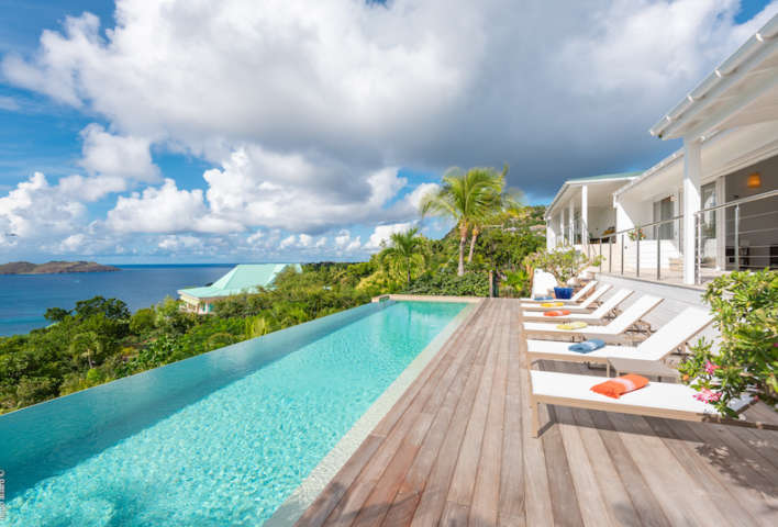 Villa Lakshmi - Spacious Villa with Contemporary Design in St Barth Close to Restaurants and Shopping - Pool