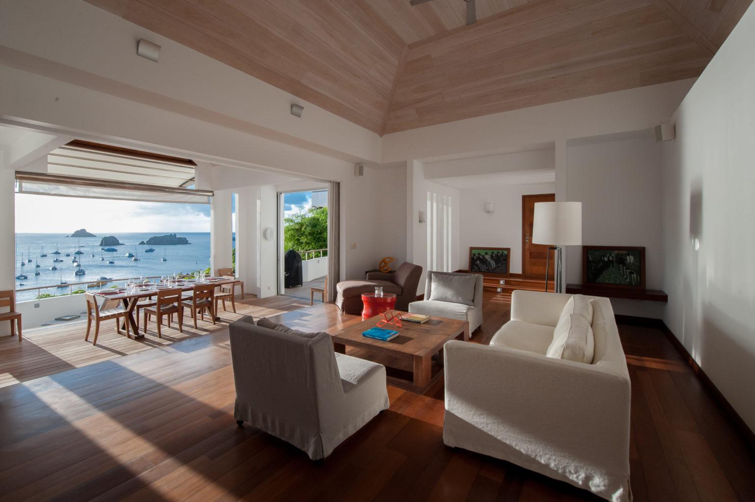 Villa Lam - Modern Villa for Rent with Fitness Equipment St Barth Gustavia - Living room