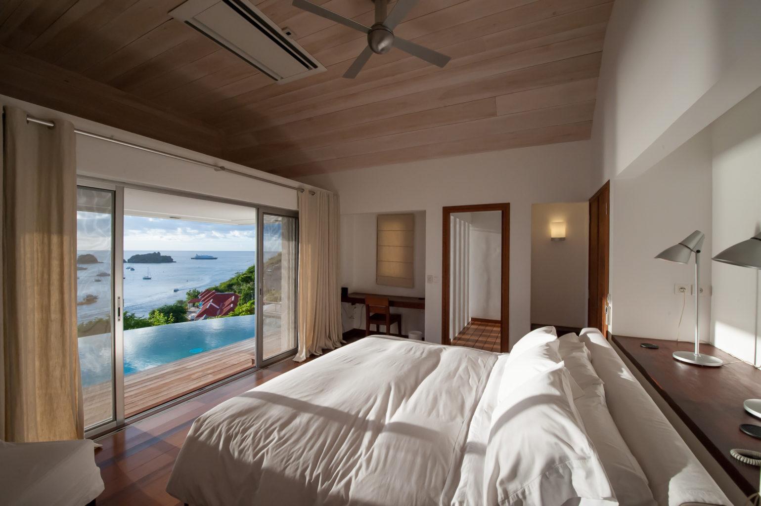 Villa Lam - Modern Villa for Rent with Fitness Equipment St Barth Gustavia - Bedroom