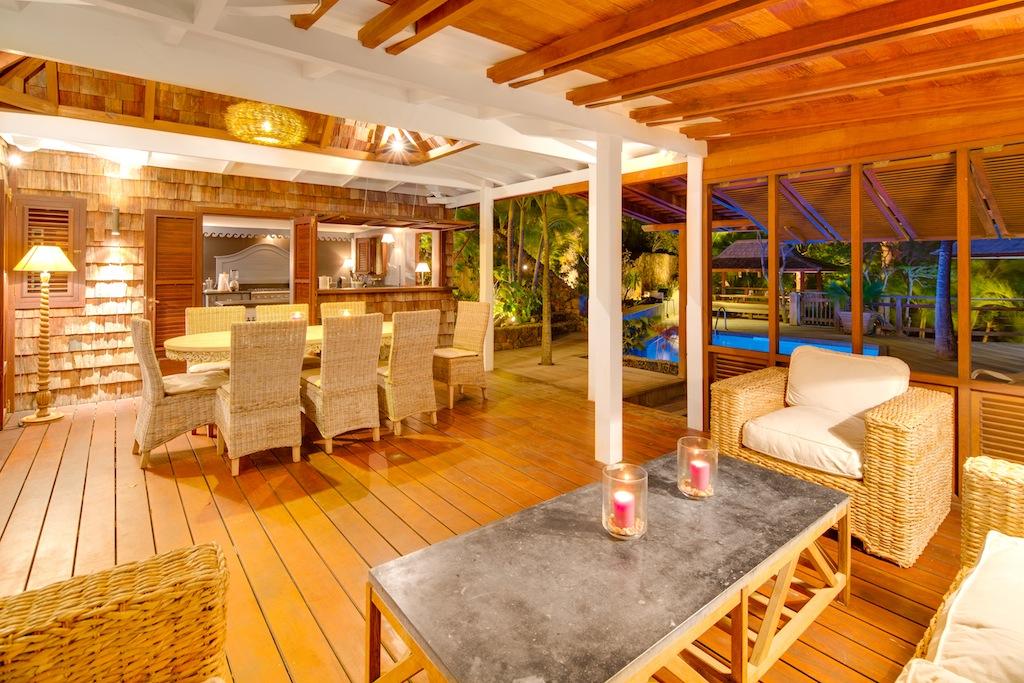 Villa Lama - Isolated Villa for Rent St Barth in a Luxuriant Tropical Garden - Main area