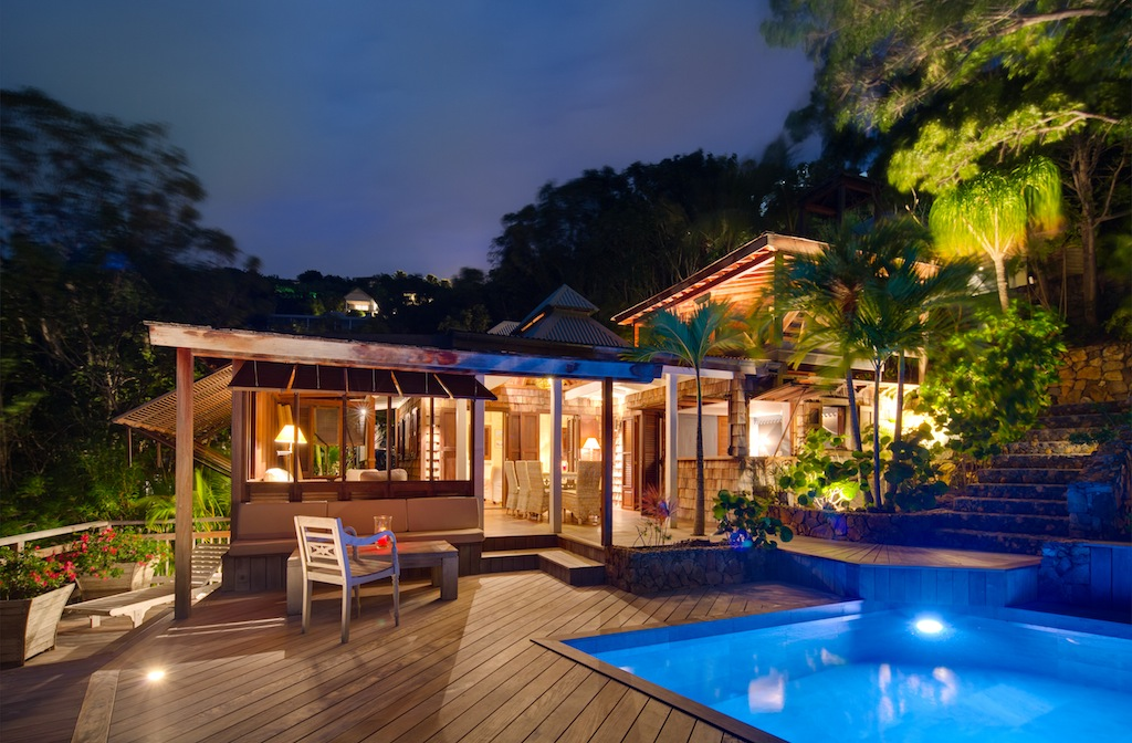 Villa Lama - Isolated Villa for Rent St Barth in a Luxuriant Tropical Garden - Outside view