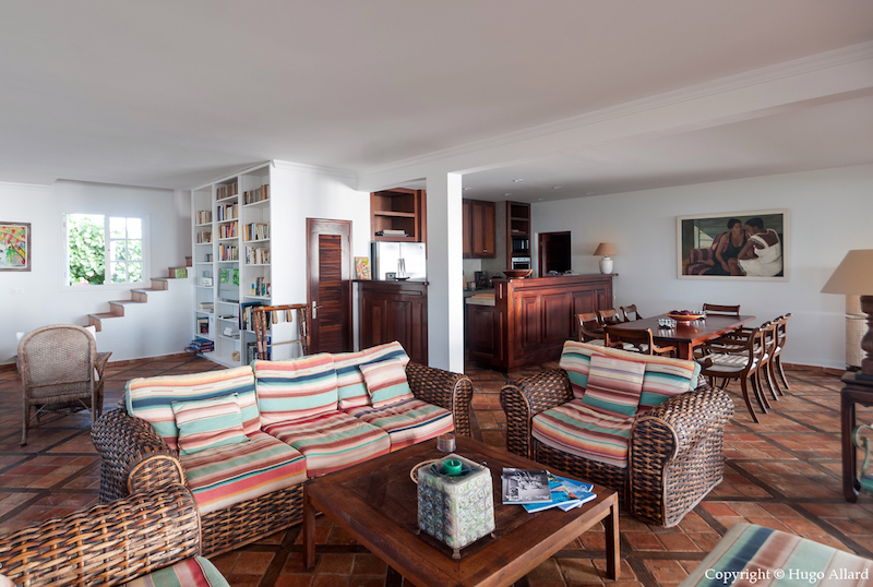Villa Margot - Caribbean Villa for Rent St Barth with an Incredible Tropical Garden - Living room