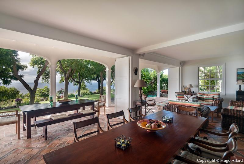 Villa Margot - Caribbean Villa for Rent St Barth with an Incredible Tropical Garden - Terrace