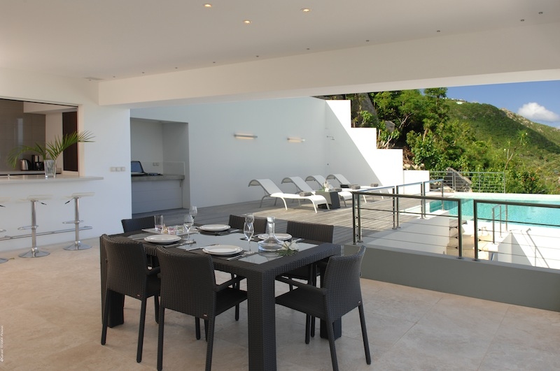 Villa Matajagui - Spacious and Modern Villa for Rent St Barth Located Few Minutes Away from Bar and Restaurants - Terrace