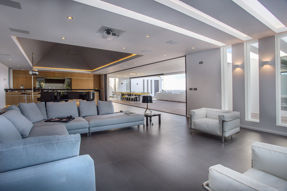 Villa My Way - Ultra Contemporary Luxury Villa Rental St Barth Offering Complete Privacy - Living room