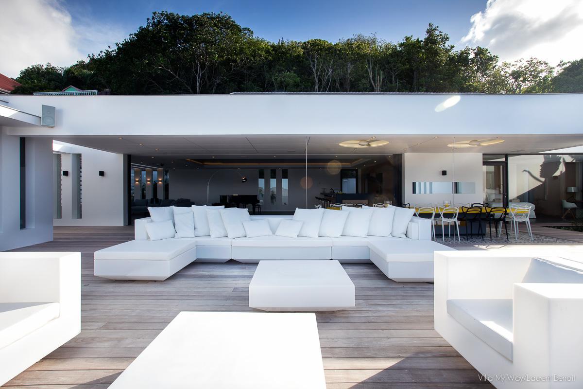 Villa My Way - Ultra Contemporary Luxury Villa Rental St Barth Offering Complete Privacy - Terrace