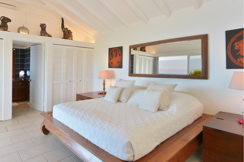 Villa Mystic - Seaview Villa for Rent St Barth with Panoramic View from Each Room - Bedroom