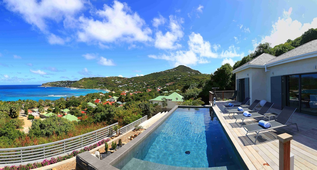 Villa Nita - Classy Villa for Rent St Barth with a Breathtaking View from Pointe Milou to St Martin - Pool
