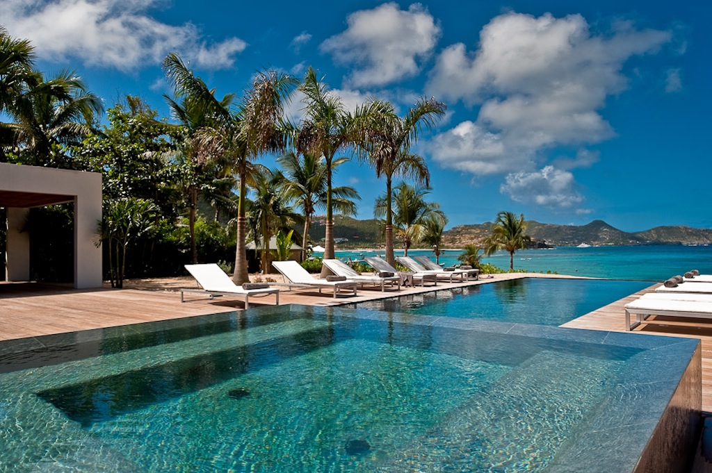 Villa Palm Beach - Oceanfront Villa for Rent St Barth with Luxury Services - Pool