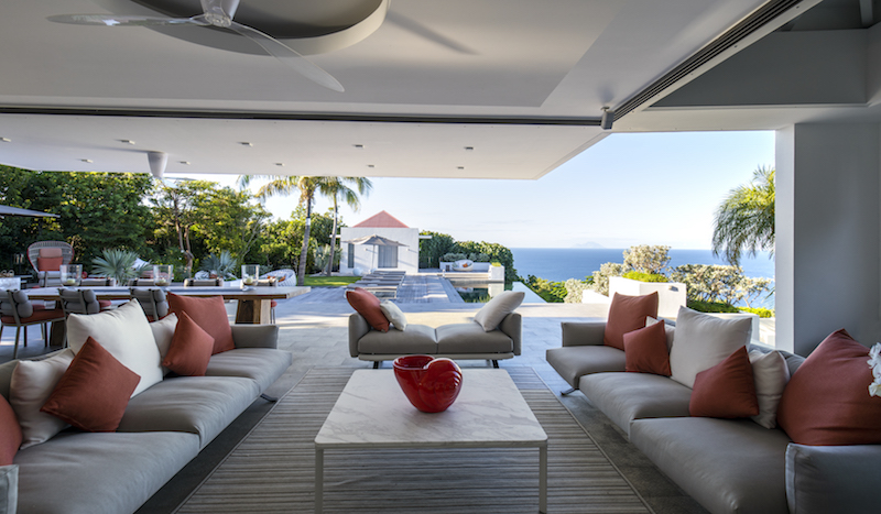 Villa Palm Springs - Modern Villa Rental St Barth Ideal for Family with a Private Gym Room - Living Area