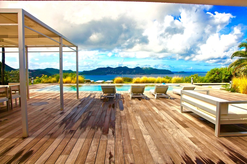 Villa Peak - Ideal Family Property For Rent St Barth Pointe Milou with Parking - View