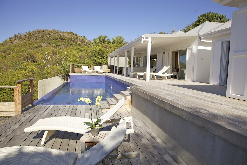 Villa Rivendell - Seaview Villa for Rent with a Beautiful View on the Hills of Flamands and the Bay - Outside