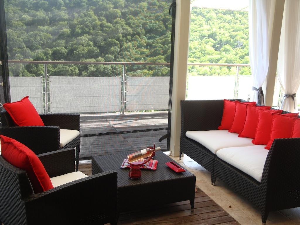 Villa Roc Flamands - Hillside Villa for Rent St Barth with Car Included - Patio