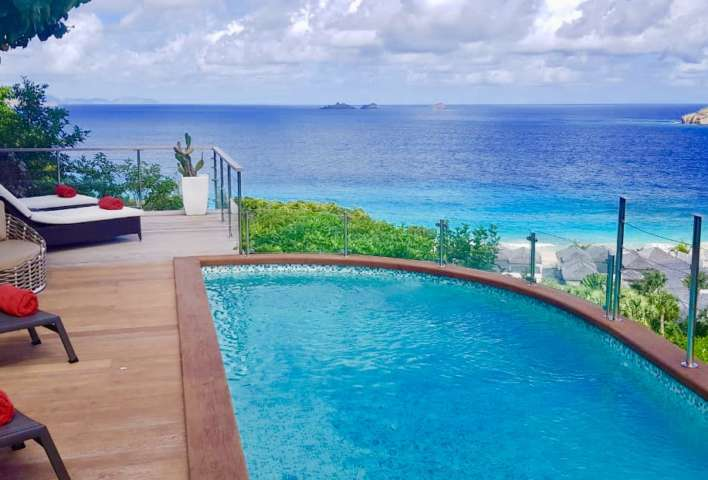 Villa Roc Flamands - Hillside Villa for Rent St Barth with Car Included - Pool