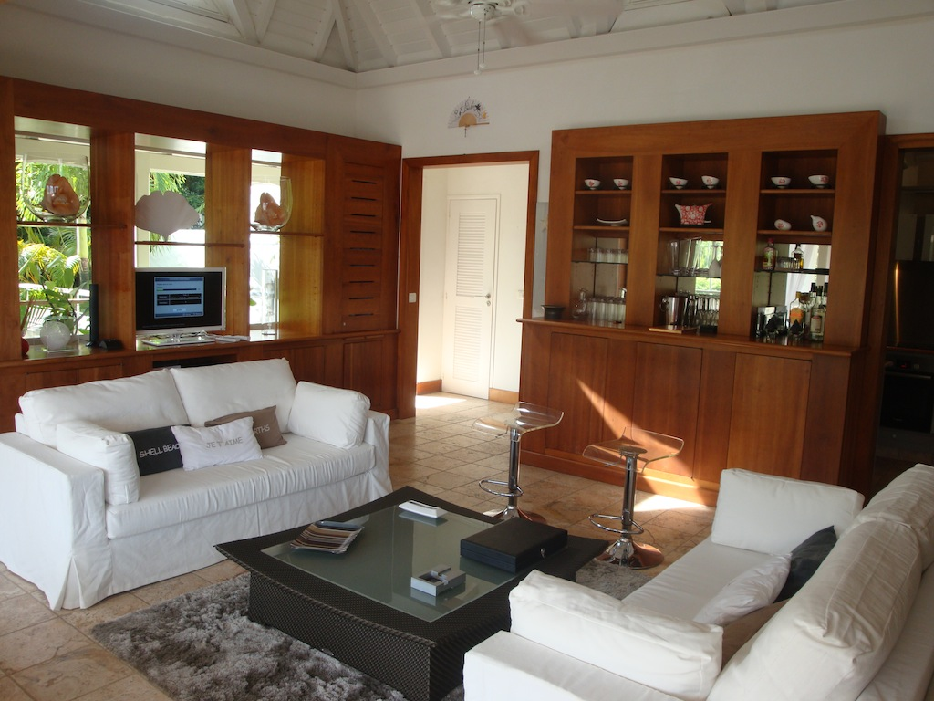 Villa Roc Flamands - Hillside Villa for Rent St Barth with Car Included - Living Room