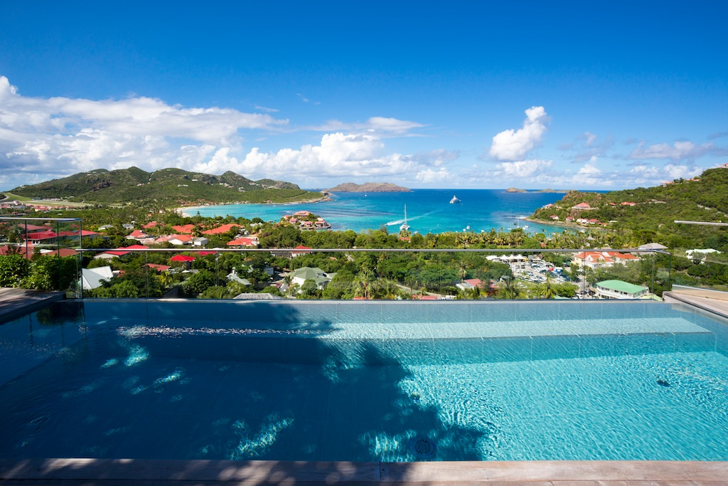Villa Romana - Hillside Villa for Rent St Barth with Spectacular View Over St Jean Bay - Sea view