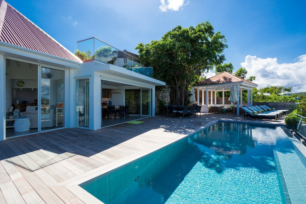 Villa Romana - Hillside Villa for Rent St Barth with Spectacular View Over St Jean Bay - Outside View