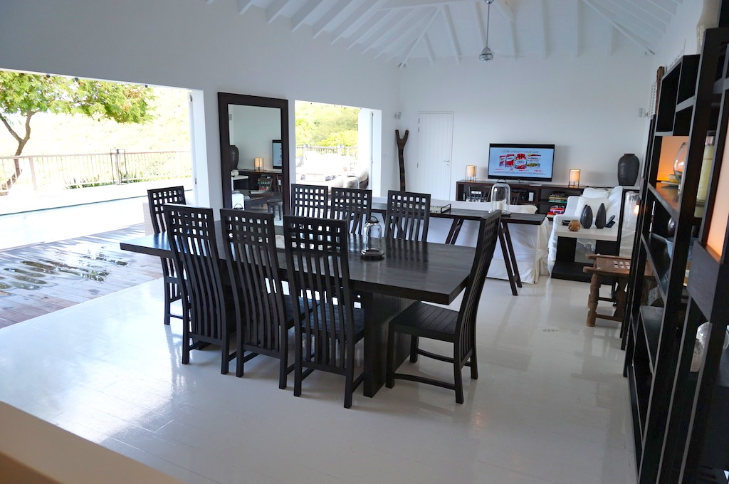 Villa Serenity - Restaurant close by Villa For Rent St Barth with Daily French Breakfast Included - Main area