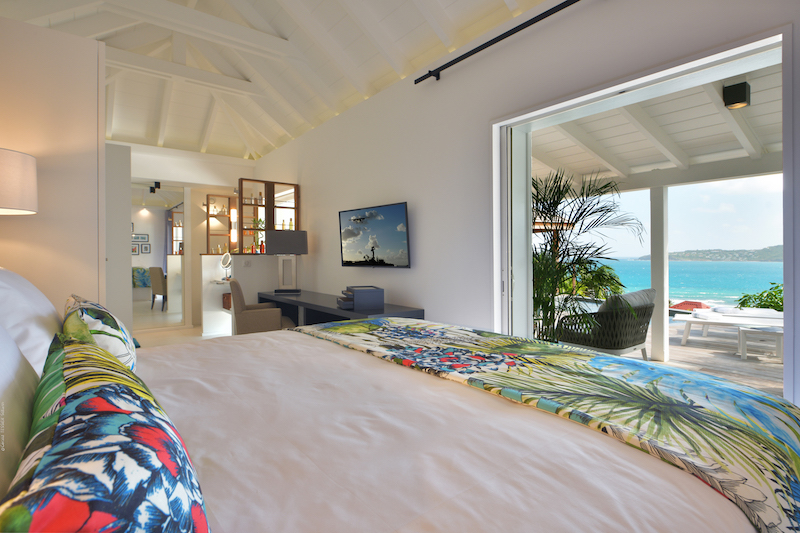 Villa Silhouette - Small Villa Rental St Barth Anse de Cayes Ocean View - Bedroom